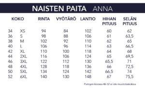 NAISTEN PAITA 3236-02-5327