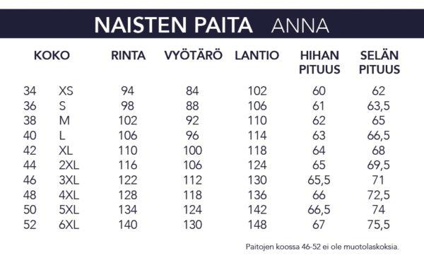 NAISTEN PAITA 6040-01-5763